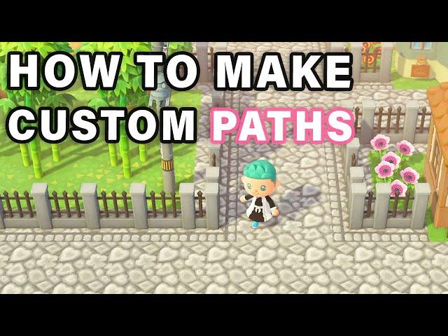 How to Make CUSTOM ROADS / PATHS ► Animal Crossing: New Horizons