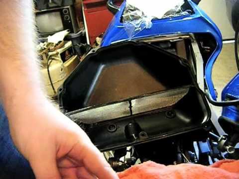 Kawasaki Zzr600 Maintenance Changing Air Filter