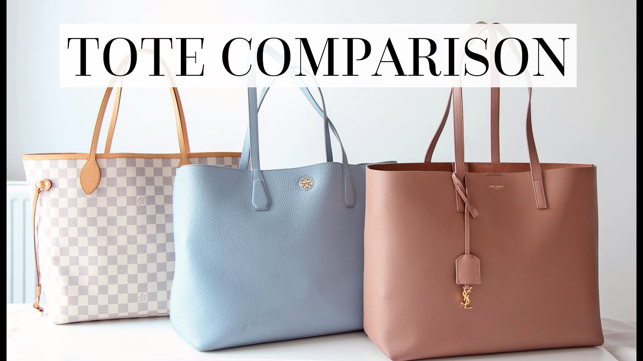 TOTE REVIEW: SAINT LAURENT, LOUIS VUITTON NEVERFULL MM & TORY BURCH PERRY -  YouTube