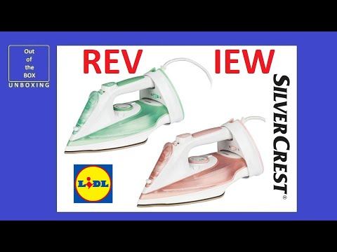 SilverCrest Cordless Steam Iron SDBK 2400 F5 REVIEW TEST (Lidl 2000W 2400W handheld cordless)