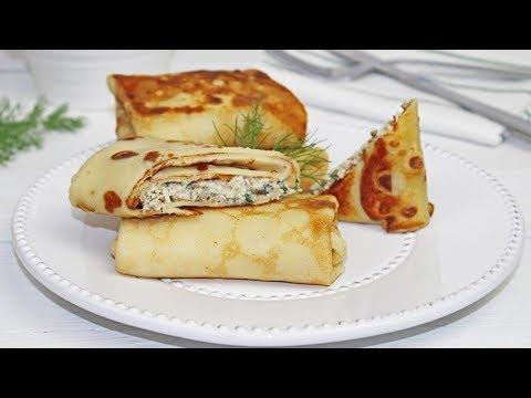 Chicken And Mushroom Crepes | Chicken & Mushrooms Blini | How To Make Chicken & Mushroom Crepes