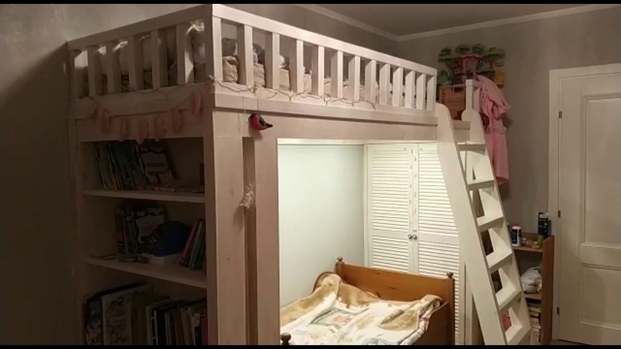Детская кровать чердак низкая