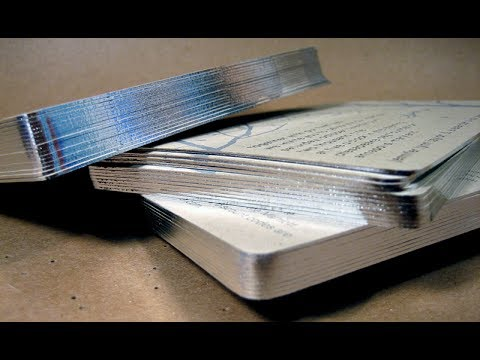 DIY How To Make Silver or Gold Edge on a Book