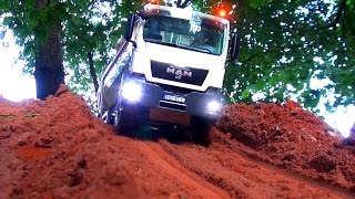 Repeat youtube video AWESOME RC TRUCK Moments! MAN! MB Arocs! Scania! ScaleART! Wedico! Tipper! Hook-lifter! Transport!