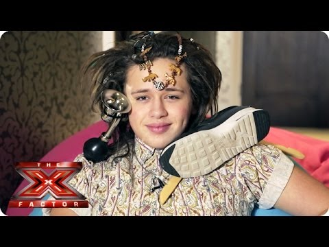 Luke Friend can fit a LOT of stuff in his hair - Samsung Video Diaries - The X Factor UK 2013