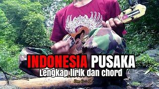 INDONESIA PUSAKA KENTRUNG COVER | LIRIK DAN KUNCI + PUISI LAGU NASIONAL