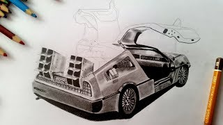 Drawing DeLorean | Back to the Future | sandy sandy