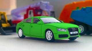 Модельки Машин разного масштаба - Обзор на Маленькие Автомобили. Крутые Машины Едут по Столу