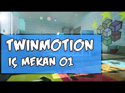 Twinmotion ile iç mekan görselleştirme 01