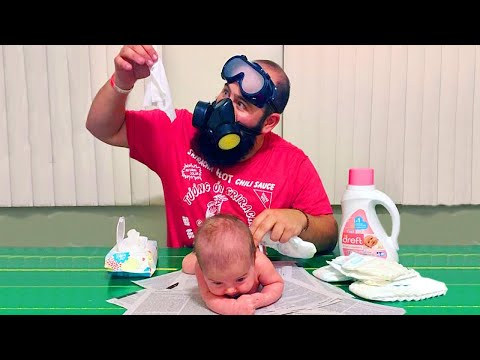 When Baby At Home Alone With Dad - Funny Baby Videos