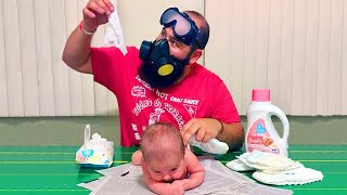When Baby At Home Alone With Dad  Funny Baby Videos