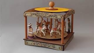 Carillon Giostra Cavalli da collezione: Padiglione Gran Giostra Cavalli (Melodia: Marcia trionfale)