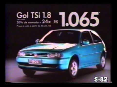 PROPAGANDA COMERCIAL VOLKSWAGEN VW GOL TSi BOLINHA 1997 BRASIL BRAZIL
