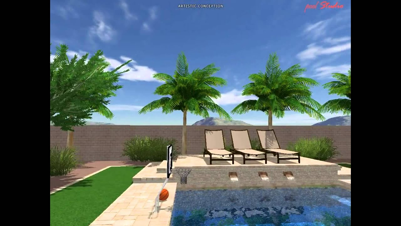 Noreus backyard pool design concept by jim sherlock at for Pool design concepts