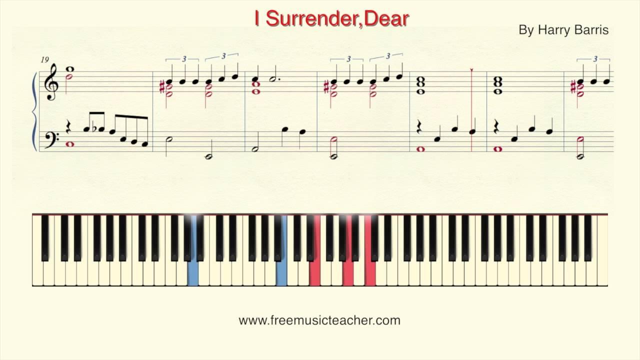 How to play piano i surrenderdear by harry barris piano how to play piano i surrenderdear by harry barris piano tutorial by ramin yousefi hexwebz Images