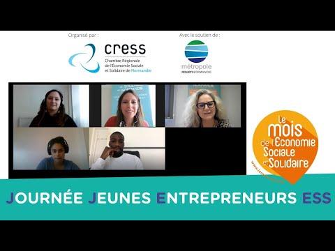 """Webinaire """"Journée Jeunes Entrepreneurs Étudiants en Économie Sociale et Solidaire"""" #2020"""