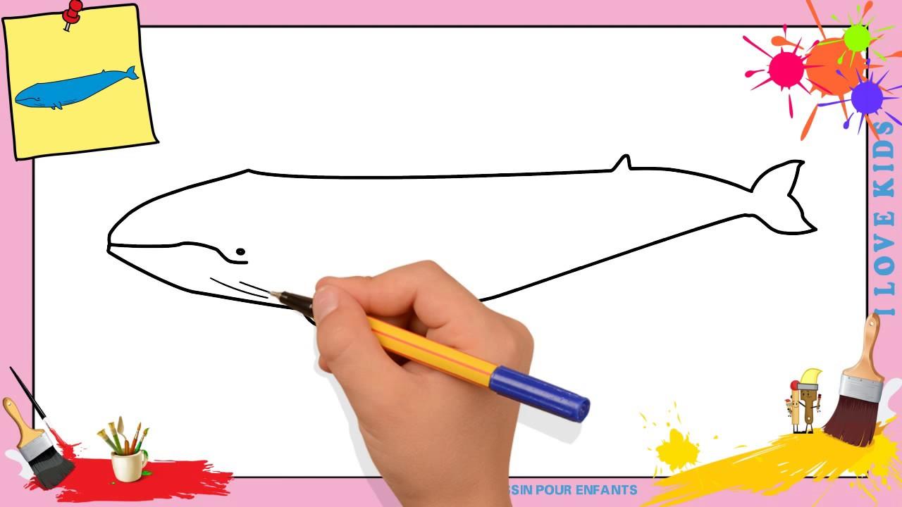 Coloriage Baleine Pinocchio.Dessin Baleine Facile 2 Comment Dessiner Une Baleine Facilement Etape Par Etape