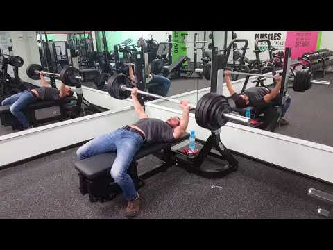 Bench press personal record on 2x95 kg