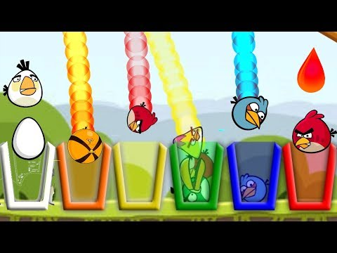 Angry Birds Drink Water 2 - SHOOTING GAME PROVIDE ALL BIRDS COLOR WATER!