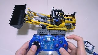 PC Gamepad Full RC LEGO Power Functions 8043 B-Model Tracked Loader by Arduino and Processing