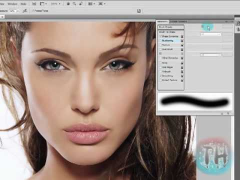 How to Airbrush With Photoshop cs4 - YouTube
