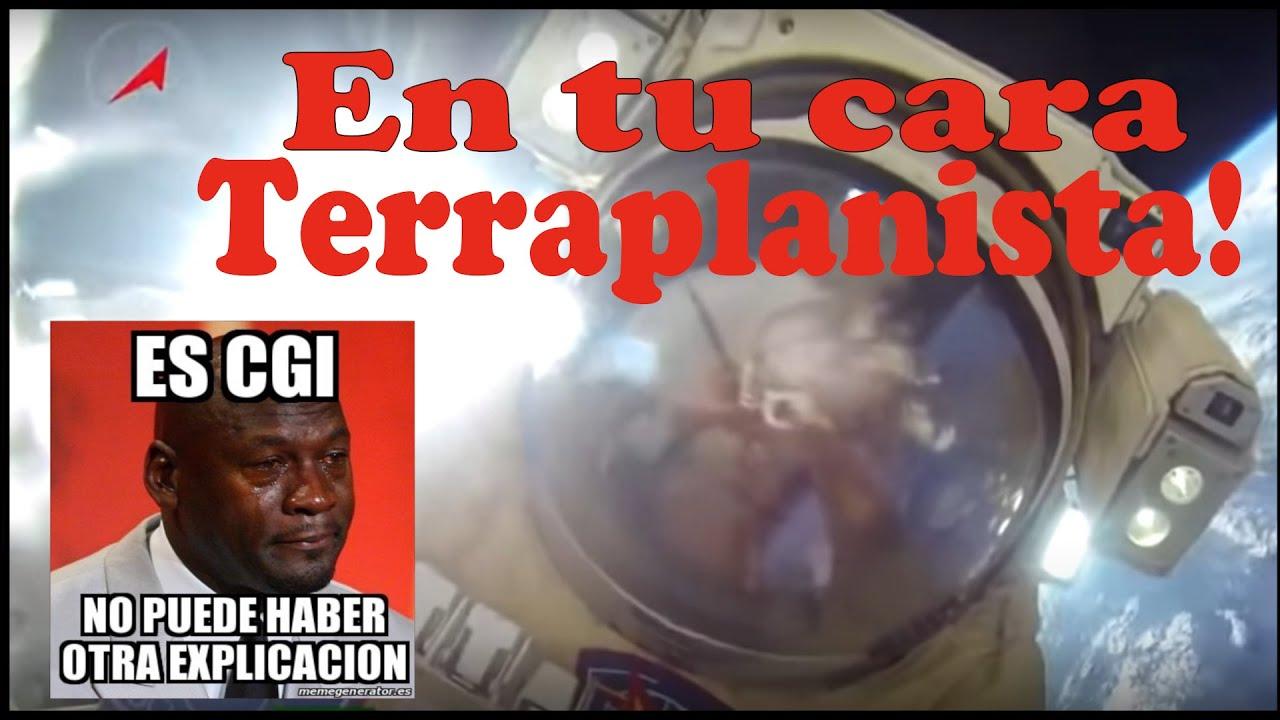 En tu cara terraplanista - Cosmonautas rusos ISS