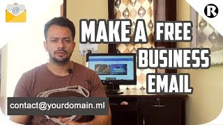 how to create free business email with free domain and free hosting