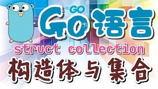 【Go语言中文入门教学】构造体与集合 - type collection - golang p.38