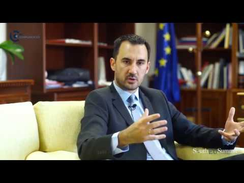 South EU Summit Interview Alexis Charitsis - Alternate Minister of Economy & Development of Greece