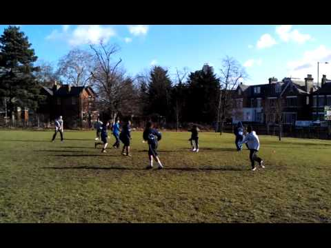 American Flag Football training