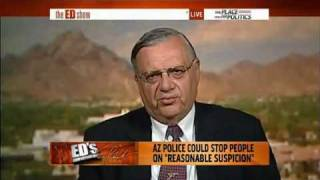 Sheriff Joe Apaio shuts up the GIANT Douchebag Ed Schultz on Arizona Illegal Immigration SB1070