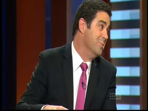 AFL Footy Show Michael Barlow Broken Leg and Garry On The Stretcher 2010