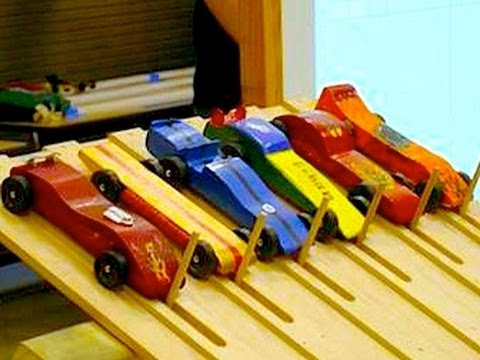 Building Pinewood Derby Cars with Dad
