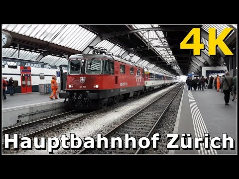 Zurich Main Station - Zürich HB 4K - Switzerland