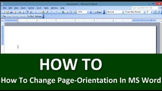 Learn How To Change Page-Orientation In MS Word | Tips & Tricks | Free Technology Tutorials