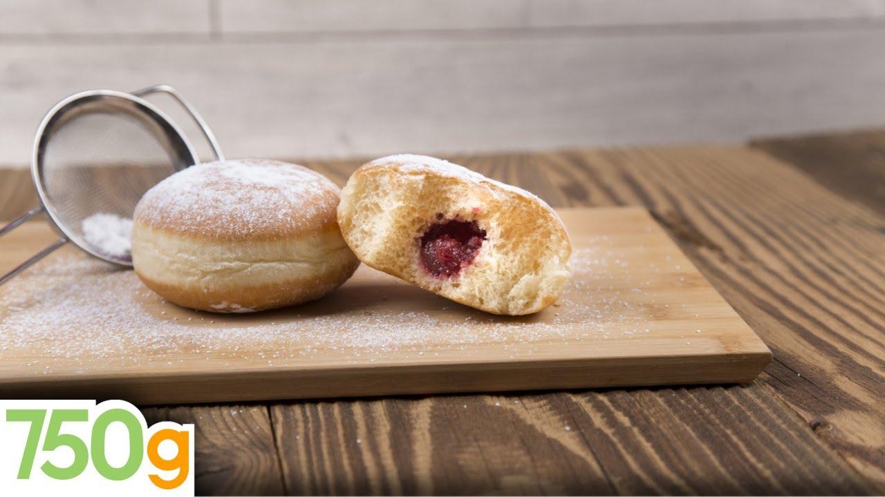 Recette des beignets fourr s 750 grammes youtube - Recette beignet levure de boulanger ...