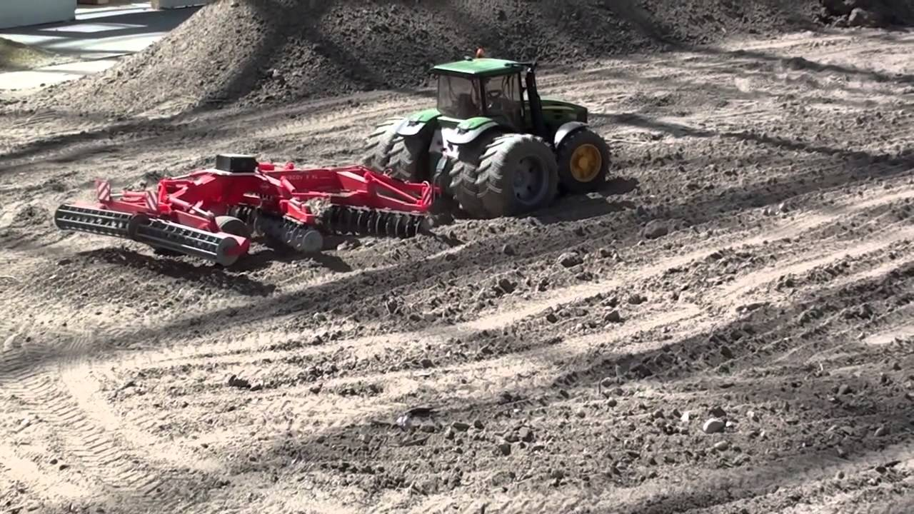 RC Tractor Plowing The Fields