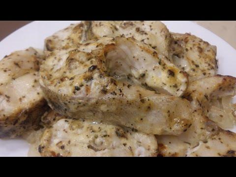 Как пожарить рыбу в духовке кусочками