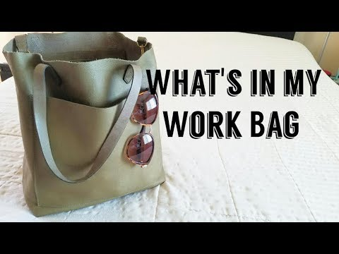 What's In My Work Handbag- Madewell Medium Transport Tote (Olive)