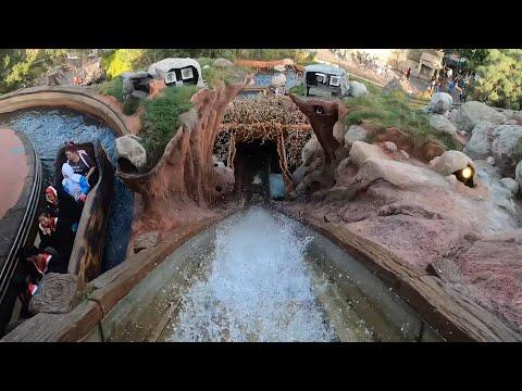 Splash Mountain 4K Front Seat POV - Disneyland Park California