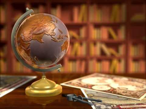 ANTIQUE EARTH GLOBE WM