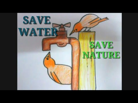 DRAWING ON SAVE WATER. ..SAVE NATURE. ..SAVE LIFE || Specially FOR WORLD WATER DAY .