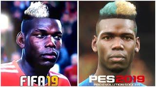 PES 2019 vs FIFA 19 | New Faces Comparisons (Pogba, Salah & Mbappe)