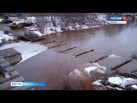 В Нолинском районе на реке Воя лёд ушёл на месяц раньше срока(ГТРК Вятка)