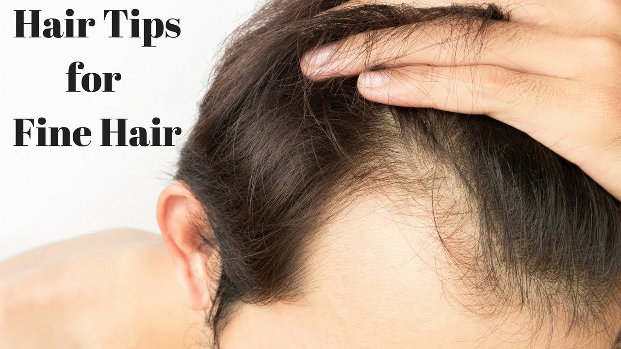 hair tips for thin/fine hair - how to hide bald spots - thesalonguy