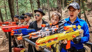 LTT Game Nerf War : Warriors SEAL X Nerf Guns Fight Braum Crazy Bandits Honorary Gold Button
