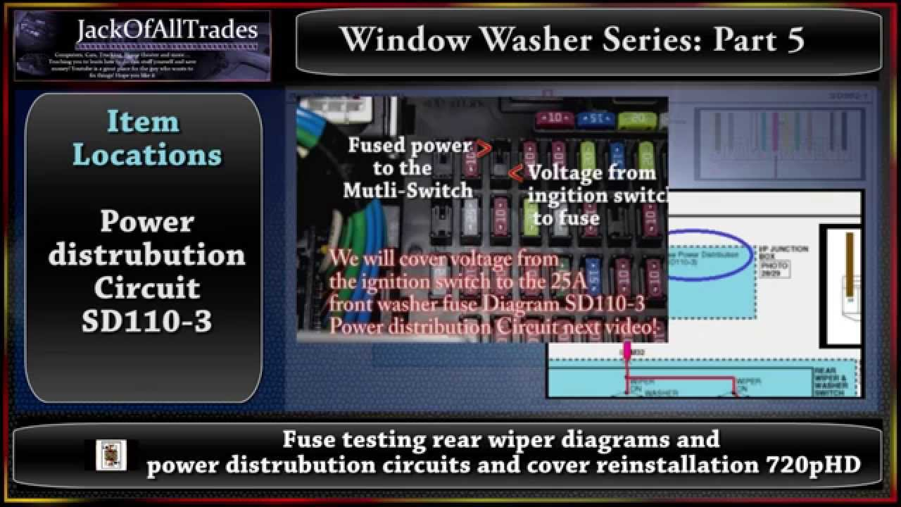 2009 Hyundai Accent Fuse Diagram Content Resource Of Wiring 2008 Radio Window Washer Series Part 5 Testing From Rh Youtube Com Panel