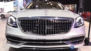 2019 Mercedes Maybach S Class S650 Sedan - Exterior Interior Walkaround - 2018 New York Auto Show