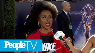 Jenifer Lewis Supports Nike & Colin Kaepernick With Emmys Red Carpet Look | Emmys 2018 | PeopleTV thumbnail