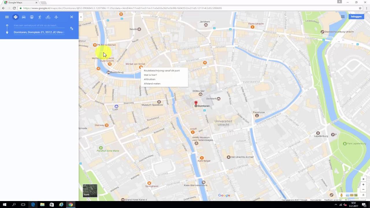 Google Maps Snel Een Routebeschrijving Maken Youtube